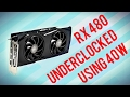 Underclocking the AMD RX 480 to Draw 40W - DOOM Vulkan 60FPS