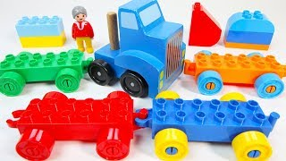 Learn Colors Building Duplo Toys: Cars and Truck for Toddlers