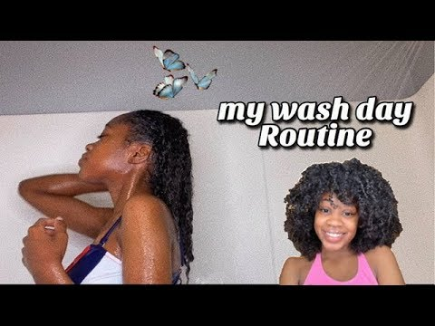 NATURAL CURLY HAIR WASH DAY ROUTINE 2019