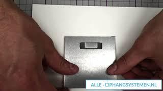GeckoTeq Zelfklevende DiBond Glas Forex Spiegel Hanger - Alle-Ophangsystemen.nl