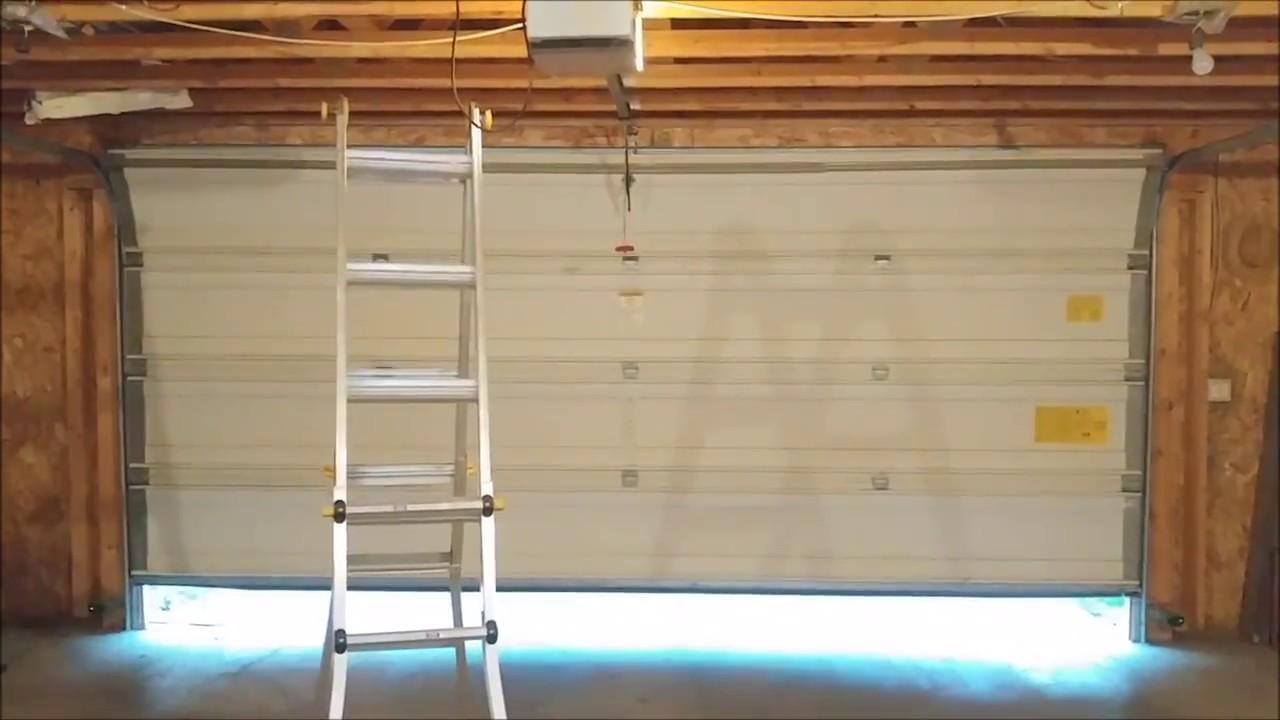 wayne dalton garage door broken with repairs [ 1280 x 720 Pixel ]