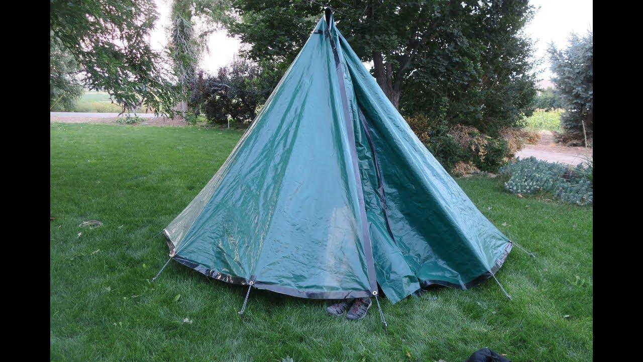 DIY Tarp Tipi Hot Tent & DIY Tarp Tipi Hot Tent - YouTube