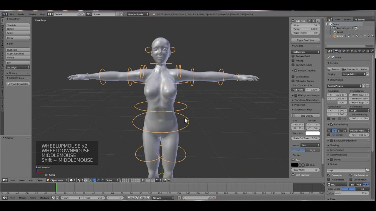 How to create in Second life- Step 1: Blender and the magical Skeleton