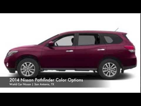 2014 nissan pathfinder color options in san antonio world car nissan youtube. Black Bedroom Furniture Sets. Home Design Ideas