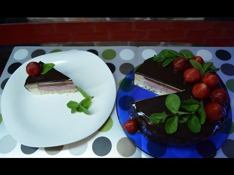 Торт клубника и базилик