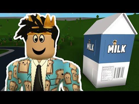I Made A Bloxburg Milk Carton House Youtube