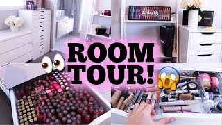 BEAUTY ROOM TOUR + MY FULL MAKEUP COLLECTION!!!