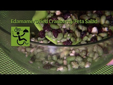 Easy Edamame, Dried Cranberry, & Feta Cheese Salad from The Gimpy Gourmet