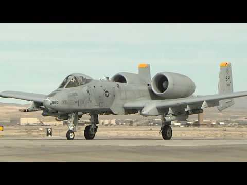 A-10 Thunderbolt Operations at Nellis AFB, NV in HD