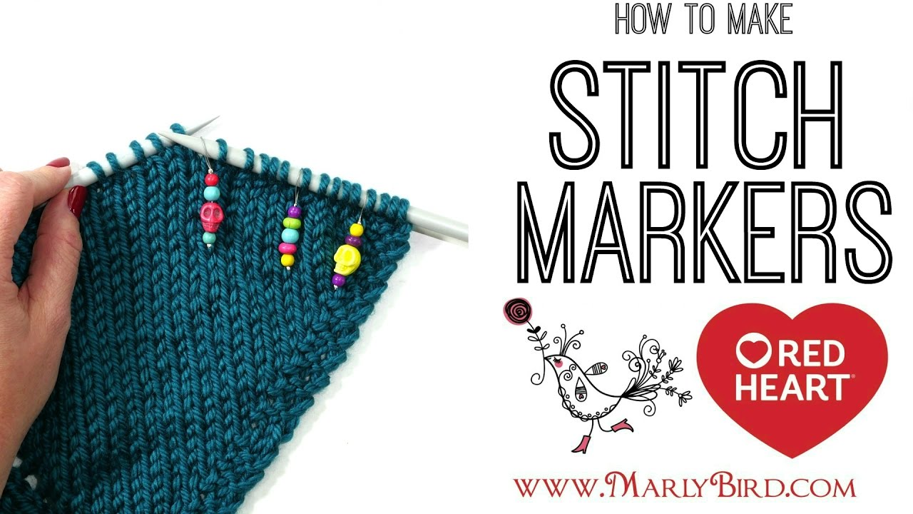 DIY How to Make Knitting Stitch Markers - YouTube