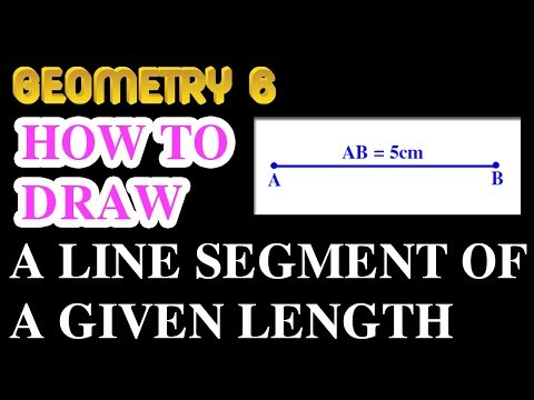 How to draw a line segment of a given length | Online Courses | Geometry 6 | Math Garden | 4K