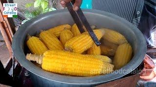 How To Cook Sweet Corn : Masala Sweet Corn Preparation : Spicy Sweet Corn Chaat : Indian Street Food