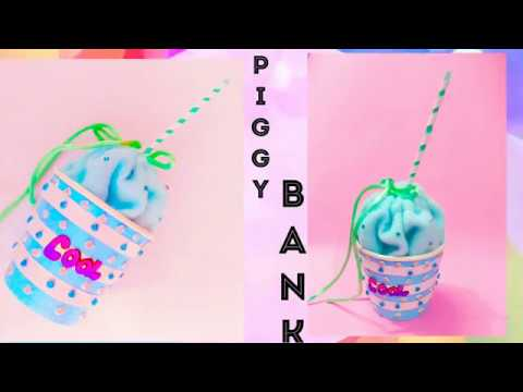 DIY Piggy bank/storage cup/best out of waste of using paper cup