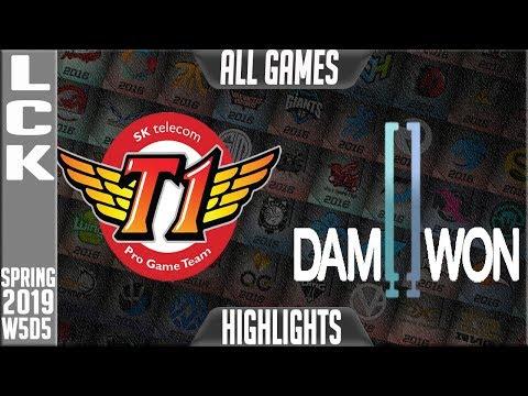 SKT vs DWG Highlights ALL GAMES | LCK Spring 2019 Week 5 Day 5 | SK Telecom T1 vs Damwon Gaming