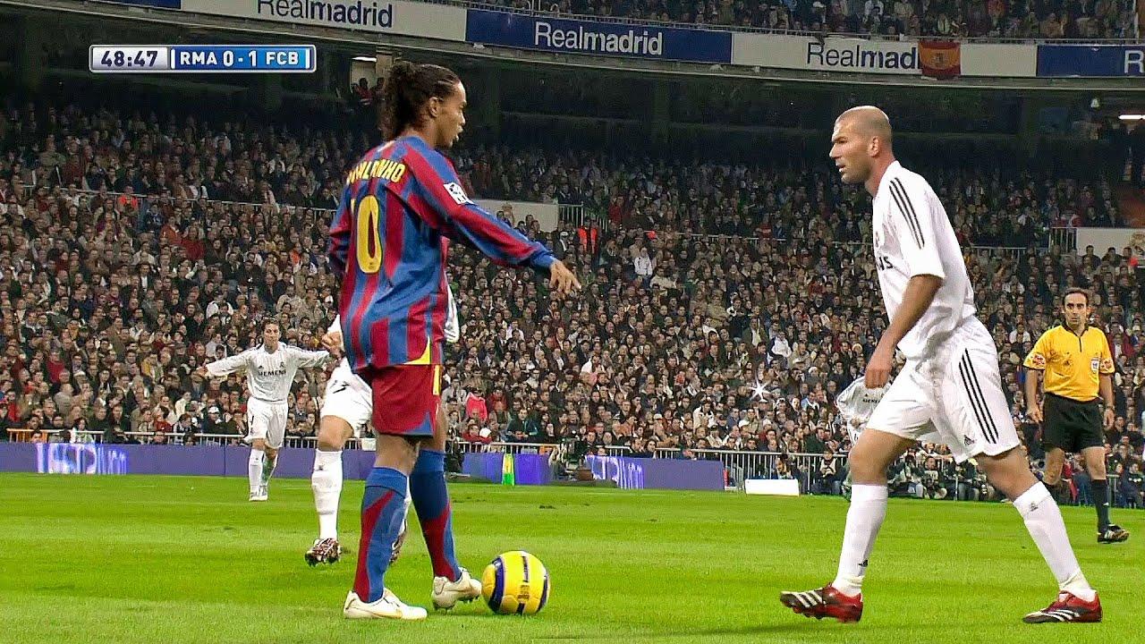 Download Ronaldinho & Zidane Showing Their Class in 2005