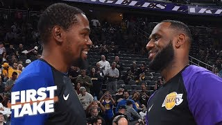 LeBron's title hopes will 'evaporate' if Kevin Durant, Kawhi join Clippers - Stephen A. | First Take