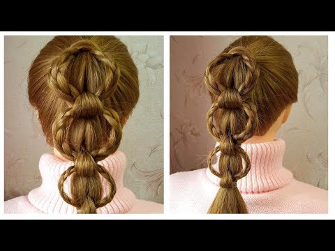 Queue de cheval originale et simple | Easy braided ponytail tutorial | Amazing Hairstyle For Girls thumbnail