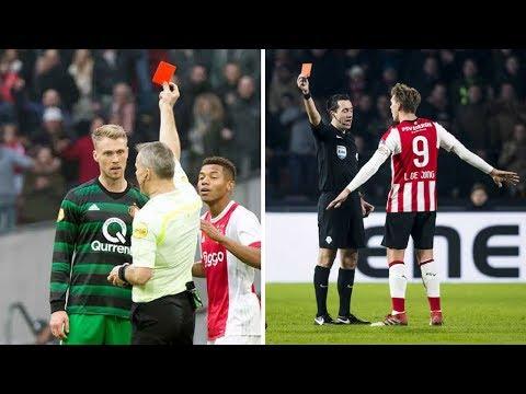Alle 36 Rode Kaarten in de Eredivisie 2017/2018!!!
