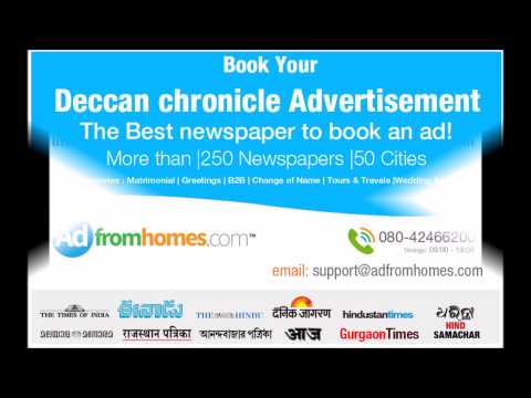 Deccan Chronicle Classifieds   Classified Ads Booking   Adfromhomes.com