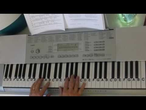 How To Play ~ O Holy Night ~ Christmas Carol ~ Key of C ~ LetterNotePlayer ©