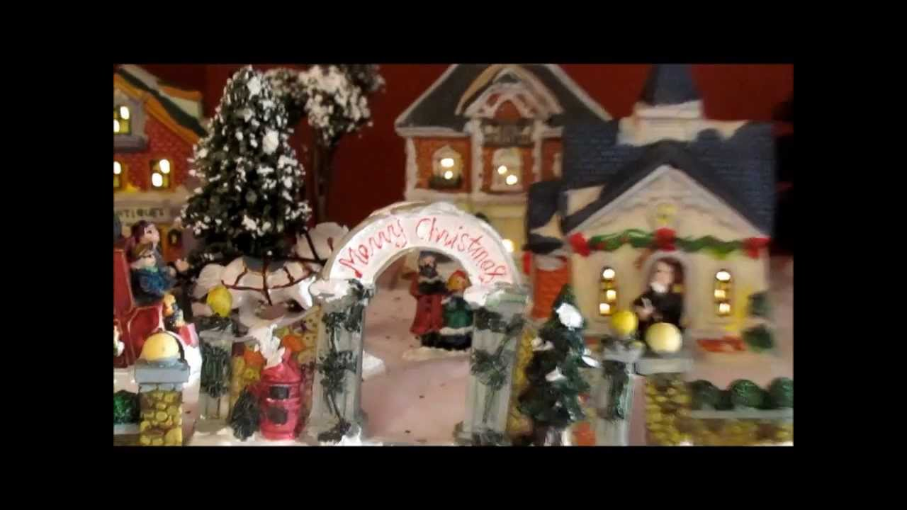 my cobblestone corners christmas village youtube