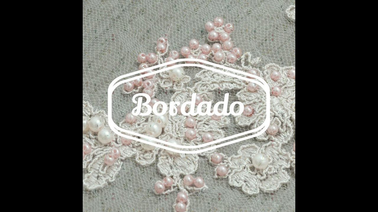 092821be566 ARTESANATO - BORDADO SOBRE RENDA - VESTIDO DE FESTA - YouTube