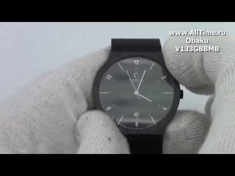 Обзор. Мужские наручные часы Obaku V133GBBMB