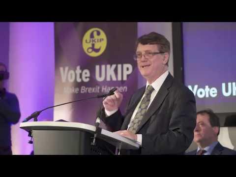 Gerard Batten Speaks At UKIP European Parliamentary Elections Press Conference