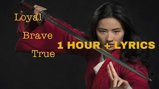 Christina Aguilera - Loyal Brave True (1 Hour Loop) | Mulan Soundtrack [Lyrics]