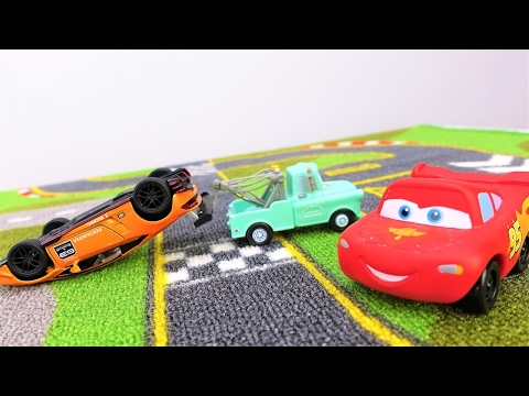 Thumbnail: Lightning McQueen. 🚗 Car racing for kids. Toy cars on #PlayTime. Videos for kids with #toysforboys.