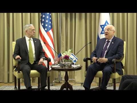 Secretary of Defense Mattis meeting with Israeli President Reuven Rivlin. Jerusalem April 21, 2017