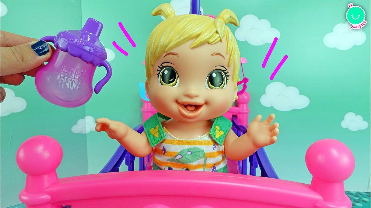 Mi primera BEBÉ SALTITOS muñeca Baby Alive que habla y salta ¡Muy divertida!