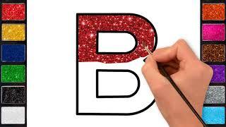 رسم وتلوين للاطفال/ لعب ومرح مع الحروف الانجليزية/ drawing & coloring Alphabet for kids