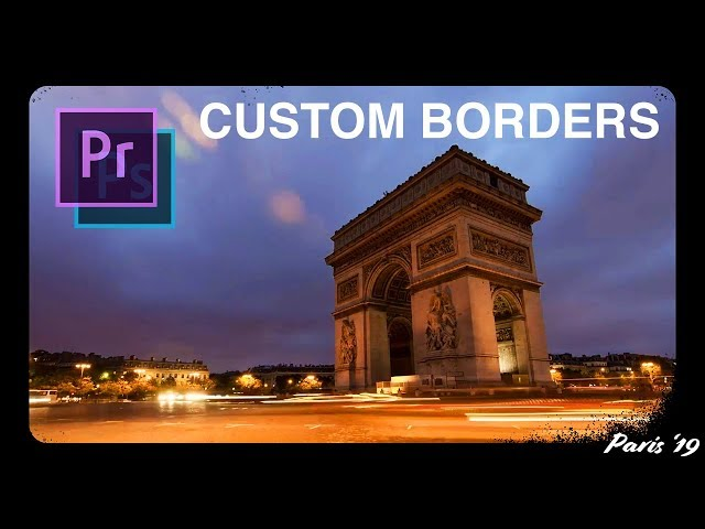 How to Create Custom Film Style Borders for your Videos | Adobe Premiere Pro + Photoshop CC Tutorial