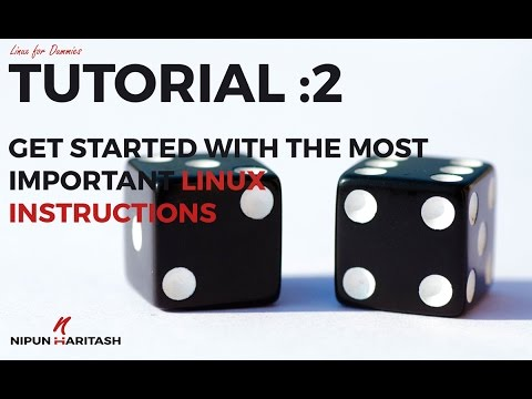 Linux Tutorial : 2 - Linux Instruction/Command Set for Beginners