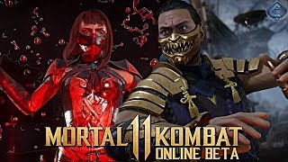 Mortal Kombat 11 Online Beta - MY FIRST MATCHES ONLINE!