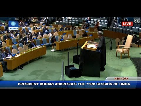 President Buhari Addresses 73rd Session Of United Nations General Assembly thumbnail