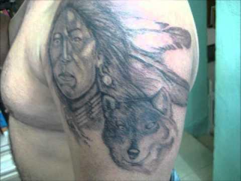 Tatuaje Cara De Indio Con Lobo Youtube