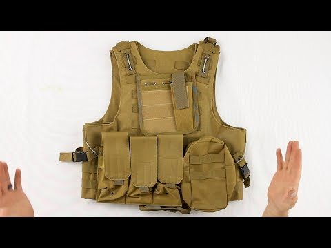 Warrior Paintball Tactical Molle Vest W/ Attachments - Review