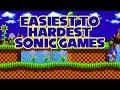 Easiest To Hardest Sonic Games (Mega Drive/Genesis)