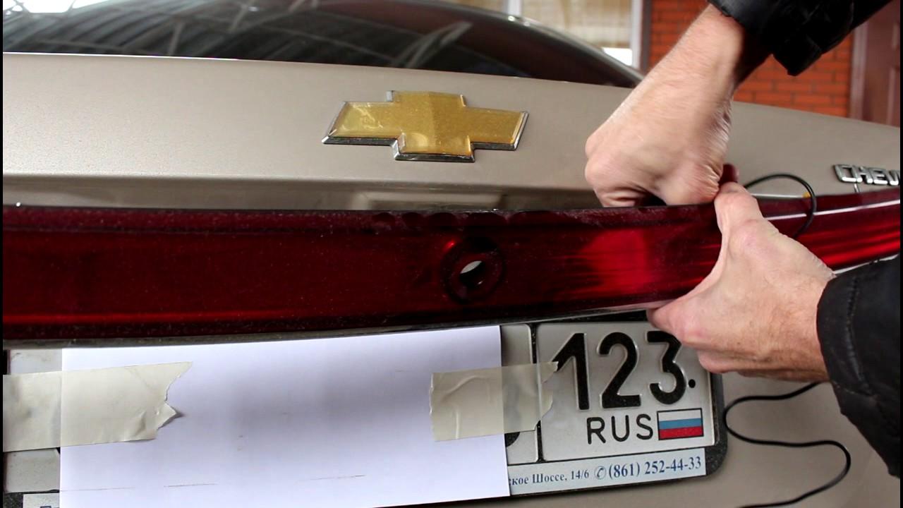 Chevrolet Epica Шевроле Эпика Замена камеры заднего хода