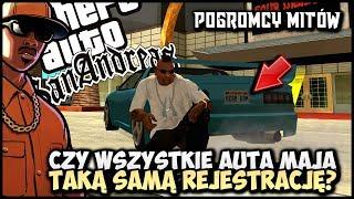 Wszystkie auta w grze mają taką samą rejestrację? - Pogromcy Mitów GTA San Andreas! #15
