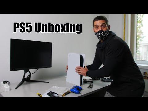 PS5 unboxing. Cu fi-miu si Doc