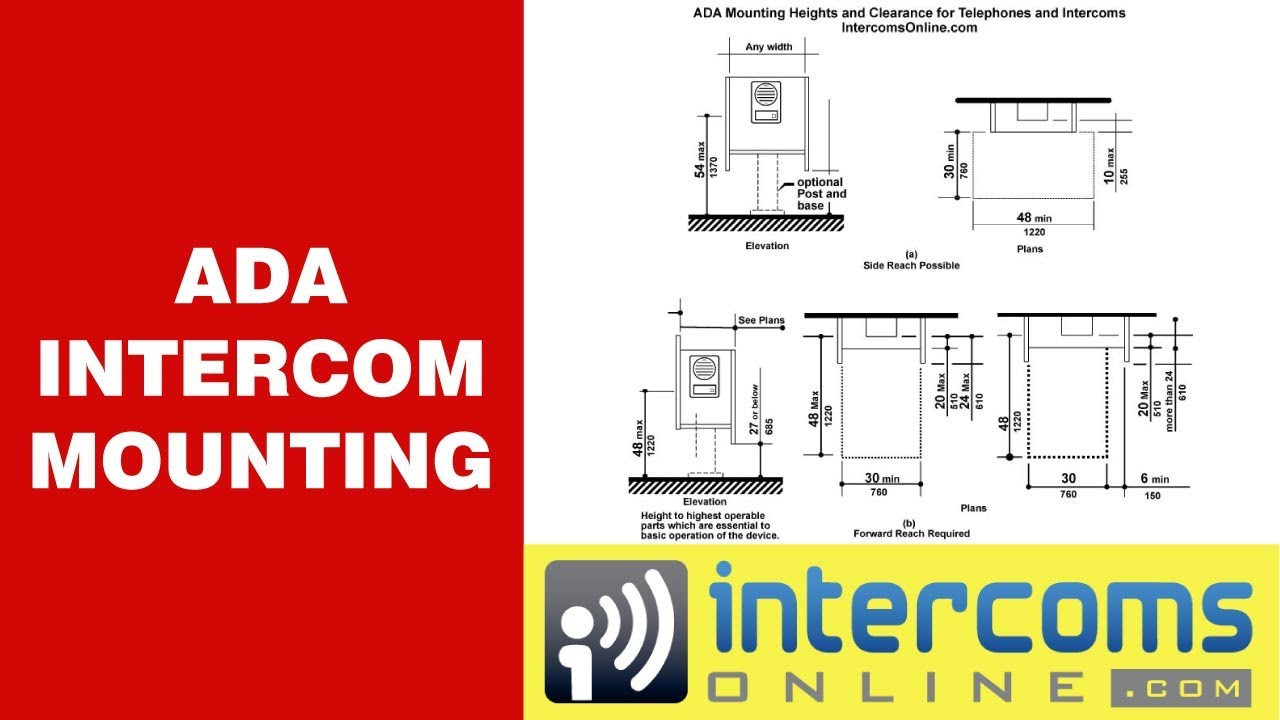 Ada Intercom Or Telephone Mounting Requirements 888 298