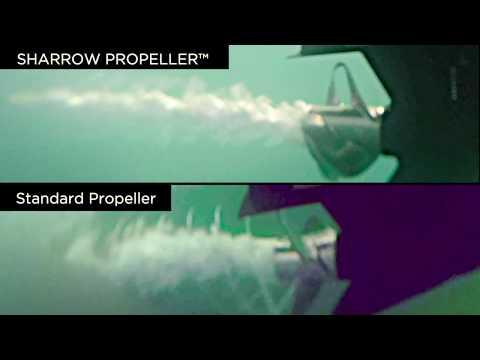 SHARROW PROPELLER™ Vs Standard Stainless CAVITATION