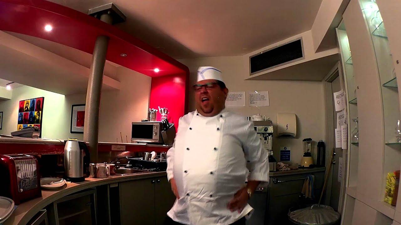 Chubby chef kitchen