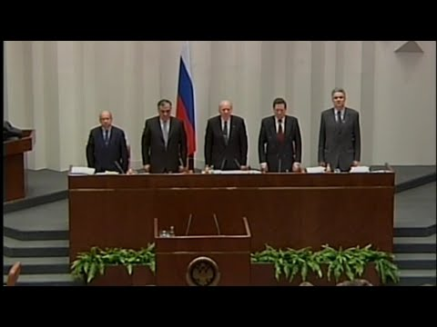 Federation Council - Soviet Anthem Handover Patrotic Song Last Time! Anthem Russia 2000 - 20.12.2000