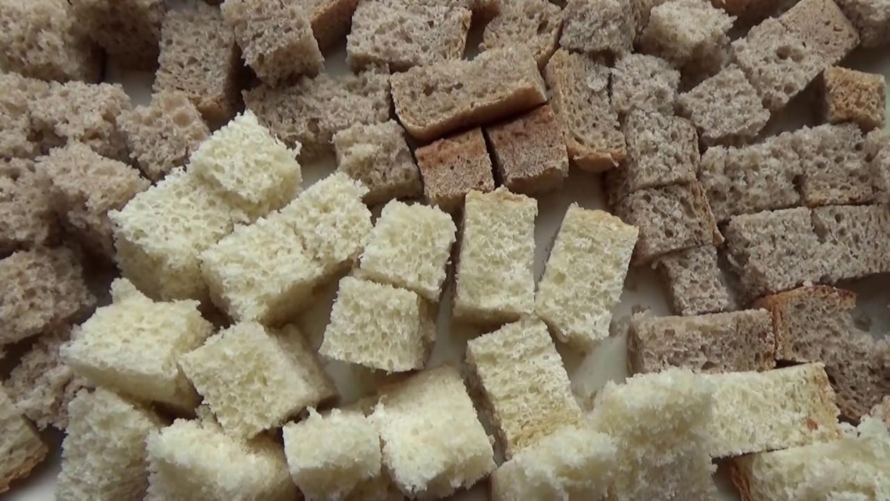 Как сделать СУХАРИ. Удобный и простой способ сушки из черного и белого хлеба, батона.