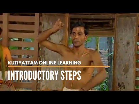 Introductory steps of a monkey character in Kutiyattam