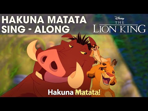 DISNEY SING-ALONGS | Hakuna Matata - The Lion King Lyric Video | Official Disney UK